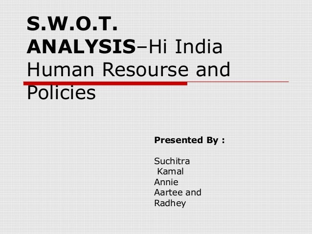 swot analysis example of human resource department