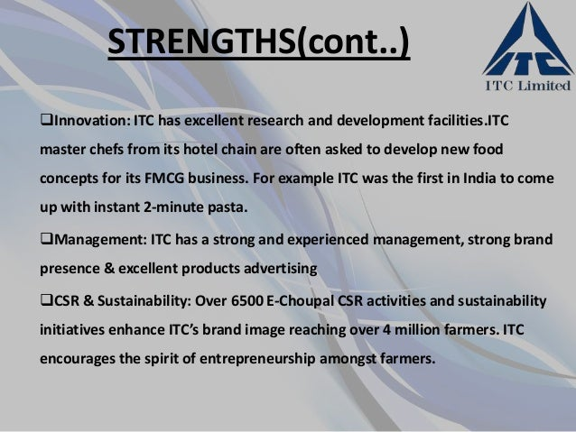itc swot analysis What is a swot analysis it is a way of evaluating the strengths, weaknesses, opportunities, and threats that affect something see wikiwealth's swot tutorial for help.