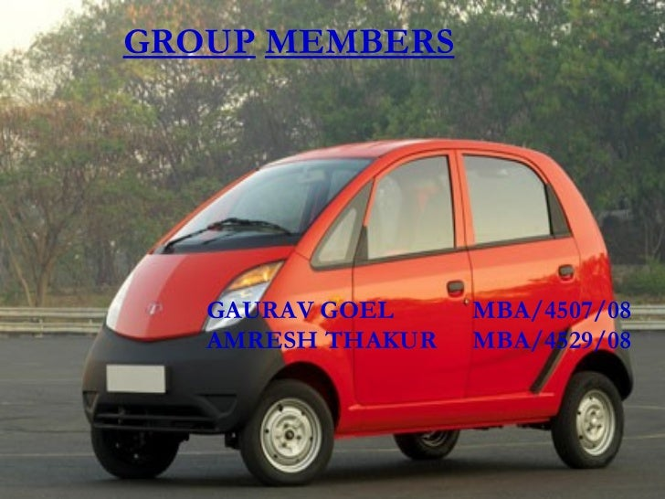 swot analysis of tata nano cars After the disappointment of the nano and a series of underwhelming  a massive  weakness for tata motors is its reliance on the tiago.