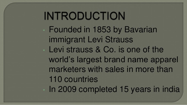 swot analaysis levis Essays - largest database of quality sample essays and research papers on swot analysis of levis strauss.