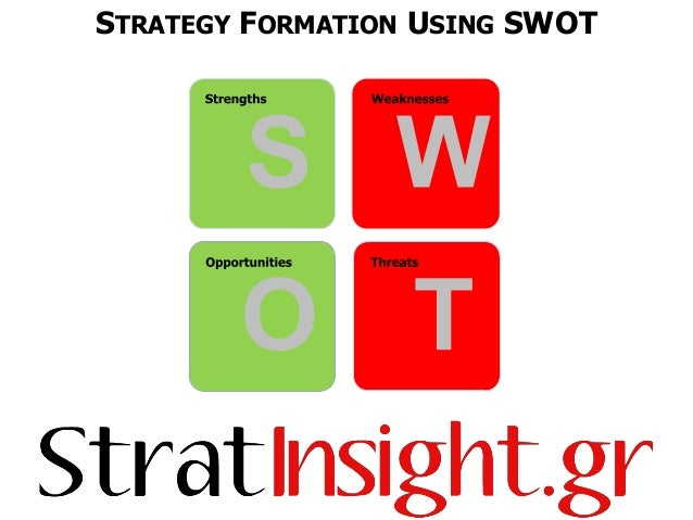 STRATEGY FORMATION USING SWOT