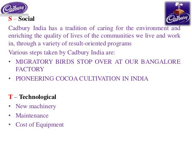 weaknesses of cadbury The weakness of the sector is the lack of adequate hygiene during production and the perishability of the products strength s and weaknesses strength : the major strength of the traditional dairy product sector is the mass appeal enjoyed by the wide variety of products.