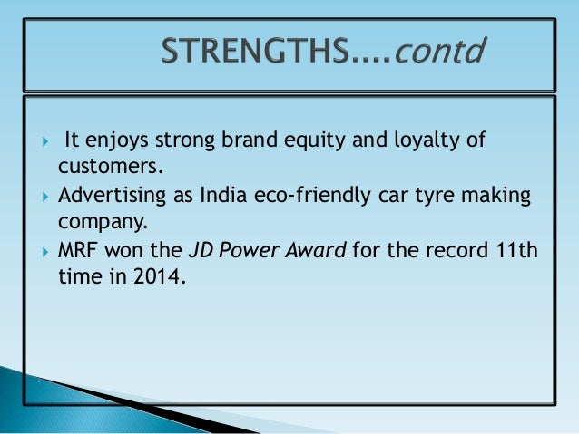Swot analysis of tyre industry
