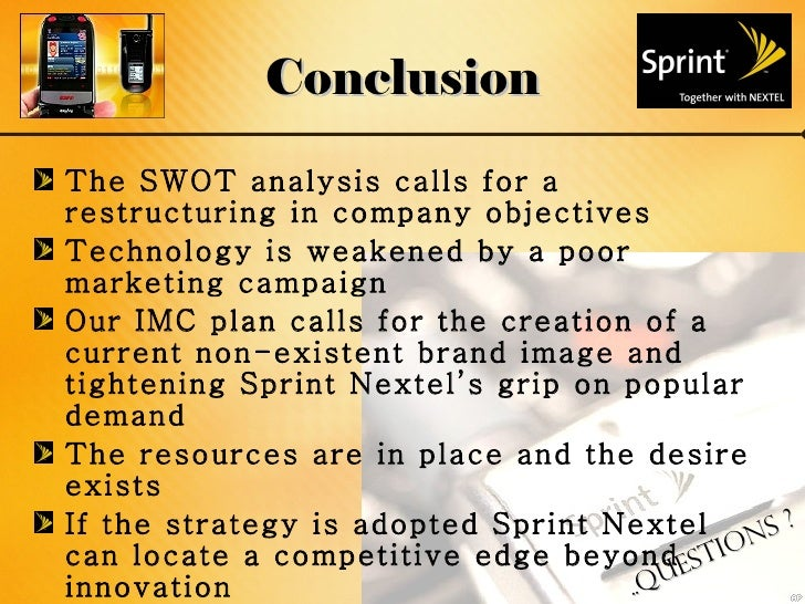 sprint nextel corporation analysis Sprint nextel corporation is a telecommunica-  relating to its management,  sprint nextel defines itself as  panel, and net promotor score, to analyse the.