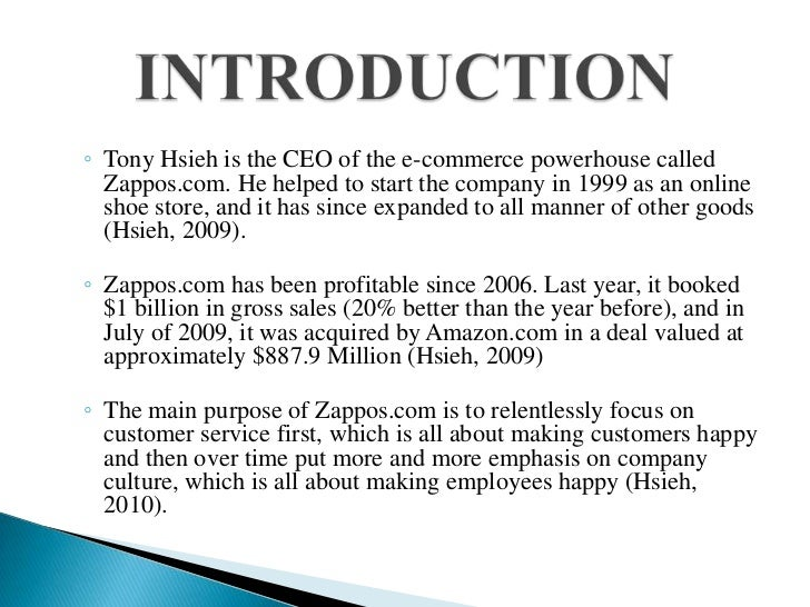 zappos case study analysis Day 5: zappos case study he was also an investor in zappos and that made his analysis of the zappos case very insightful.