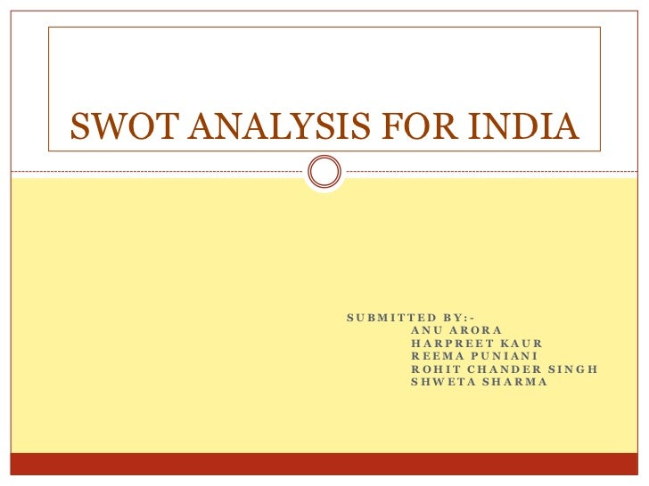 swot analysis of volkswagen in india Swot analysis of the company: volkswagen strength as the standard of living in india has increased the purchasing power of the people as increased as well.
