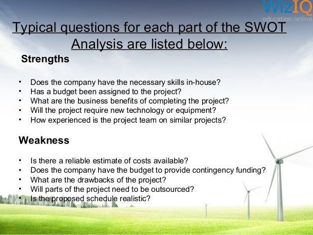 Swot Analysis In Project Management