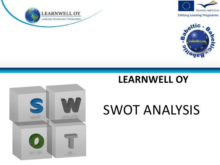 LEARNWELL OYSWOT ANALYSIS