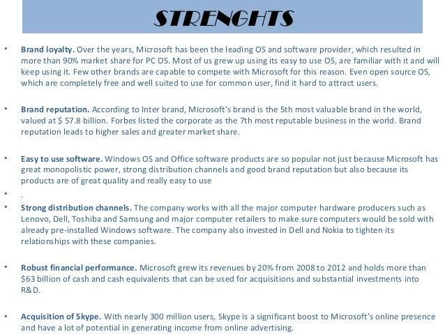 Swot analysis microsoft – Swot Analysis of Microsoft
