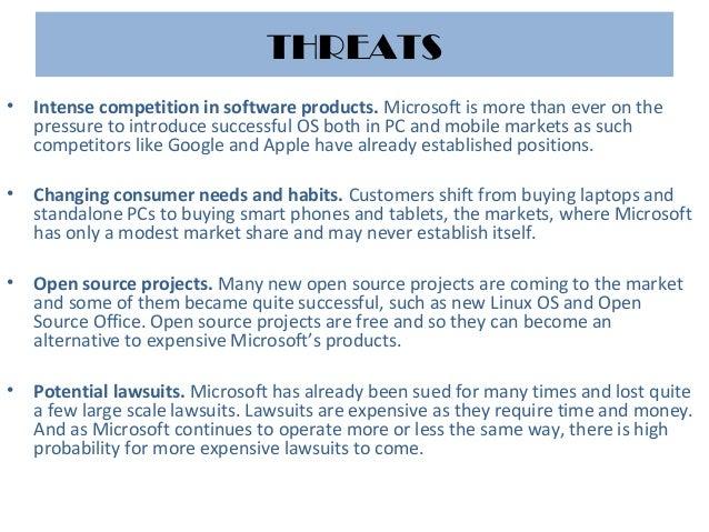 Swot analysis microsoft – Microsoft Competitive Analysis