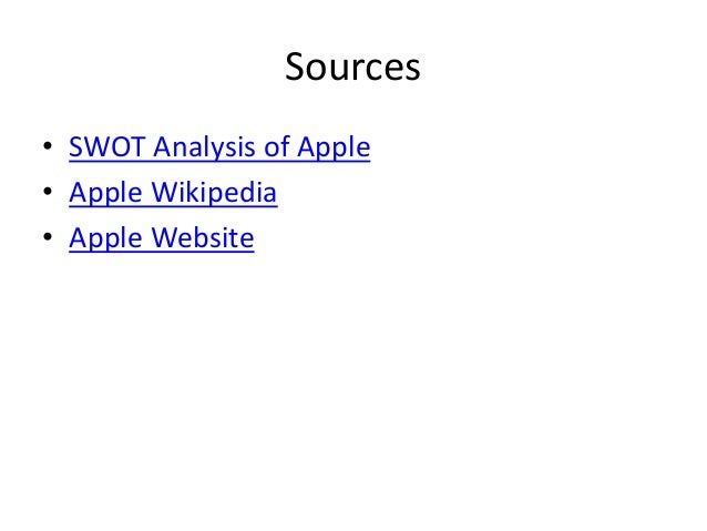 apple swot analysis 6 Talk time: up to 5 hours on 3gup to 10 hours on 2g standby time: up to 300 hours internet use: up to 5 hours on 3g up to 6 hours on wi-fi audio playback: marketing analysis- apple iphone 3gs 9 fcu e-paper (2009-2010) swot analysis strengths innovative – the iphone3gs has an innovative touch screen that is.