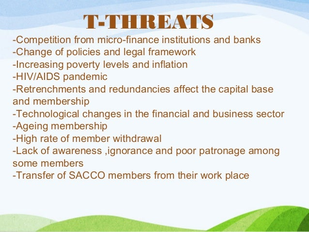 Example Of A Swot Analysis Of A Sacco Society