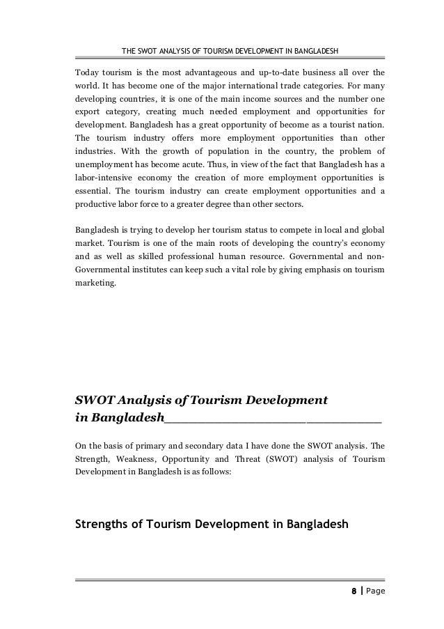 Swot analysis of the tourism industry of mauritius