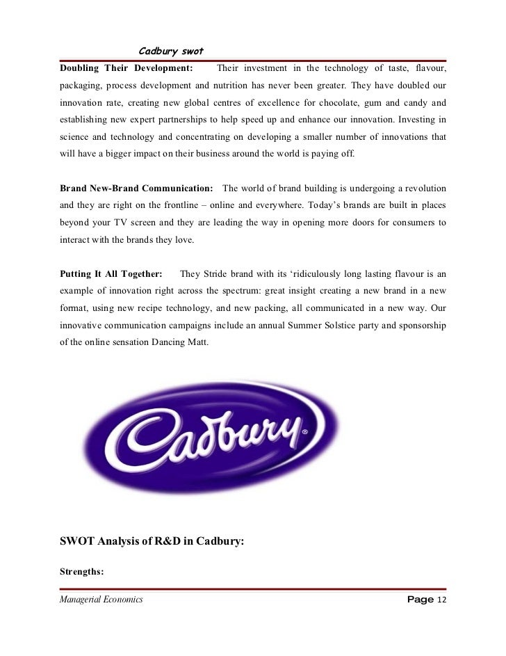 market analysis of cadbury What is a chocolate manufacturer 13 history and current position of cadbury 2  the market 21 market share 3 environmental analysis 311 political factors.