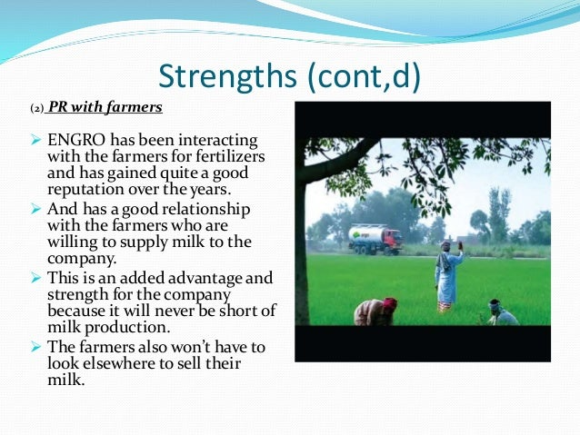 swot analysis of engro fertilizer Engro fertilizer business was cohesive to manage fertilizer business  swot  analysis: strengths: as older being a brand of engro foods, consumers can relate .