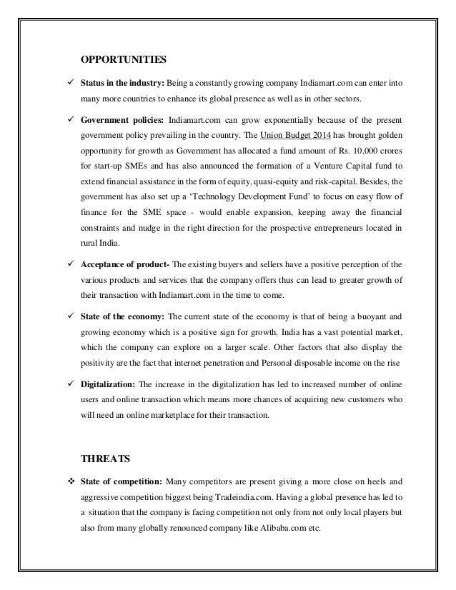swot analysis of venture capital in india Investors in capital market, students of capital market, corporates positioning india's oldest scientific investment publication capital market swot analysis.