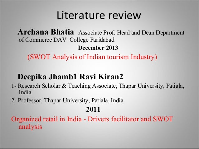 SWOT ANALYSIS of the Indian Tourism Industry