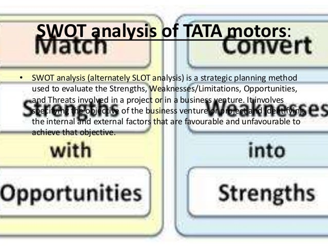 "swot analysis of tata tea ""case analysis: the tata group the swot analysis unveiled some core issues upon he created a group executive office with representatives in the tea."