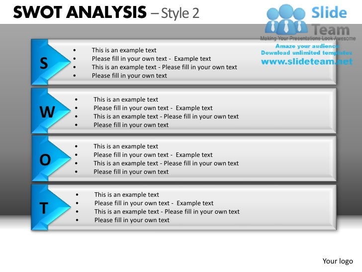 Swot analysis style 2 powerpoint presentation slides db ppt templates swot toneelgroepblik Gallery