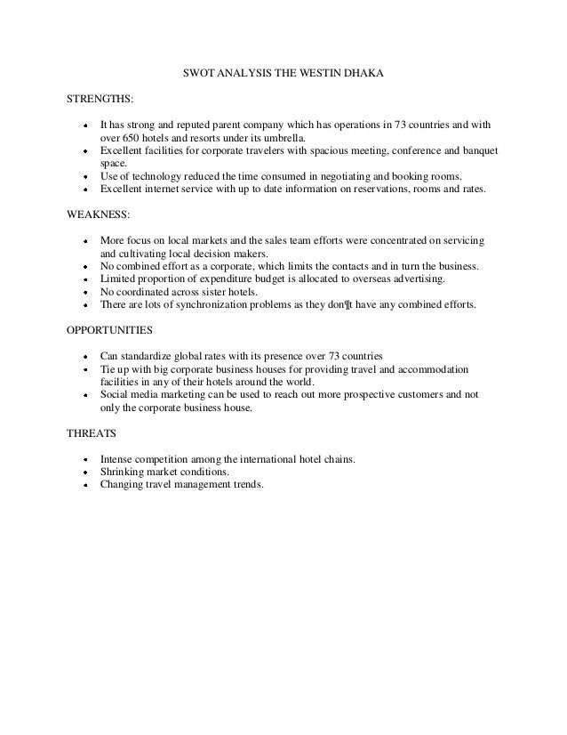 ?Radisson Hotel SWOT Analysis Essay Sample