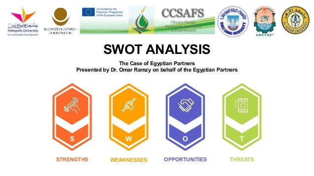 STRENGTHS OPPORTUNITIESWEAKNESSES THREATS S OW T SWOT ANALYSIS The Case of Egyptian Partners Presented by Dr. Omar Ramzy o...