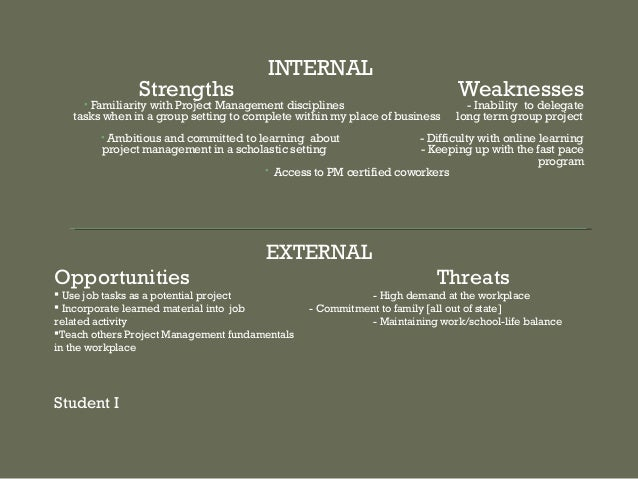 9 internal strengths weaknesses