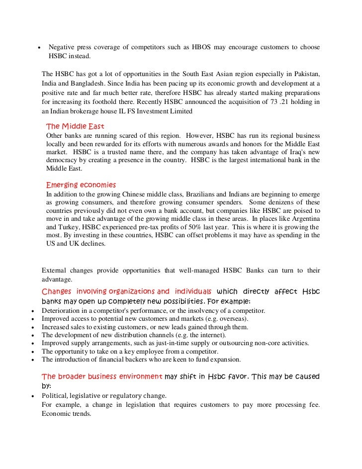 hsbc swot Request sample of market research report on hsbc finance corporation strategy swot and corporate finance report explore detailed toc, tables and figures of hsbc.