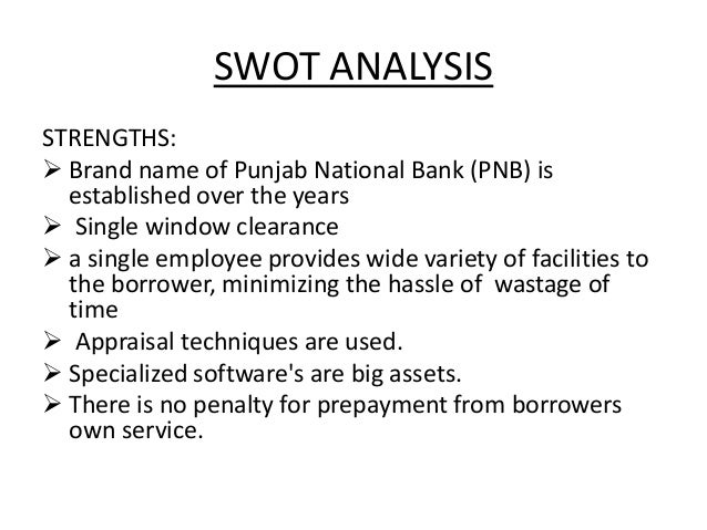 swot analysis of a bank manager Swot analysis is a business analysis process that ensures that objectives for a project are clearly defined and that all factors related to the project are properly identified the swot analysis process involves four areas: strengths, weaknesses, opportunities and threats.