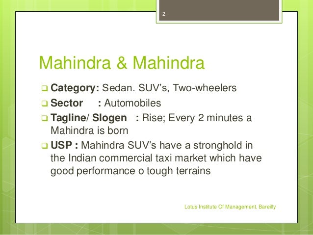 swot analysis of mahindra and mahindra