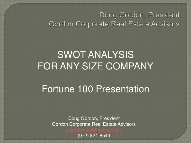 swot analysis of real estate company