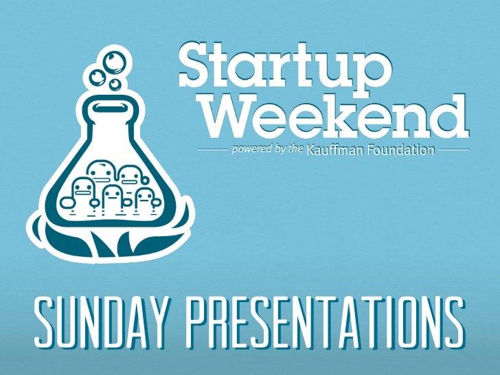 Sunday Presentations
