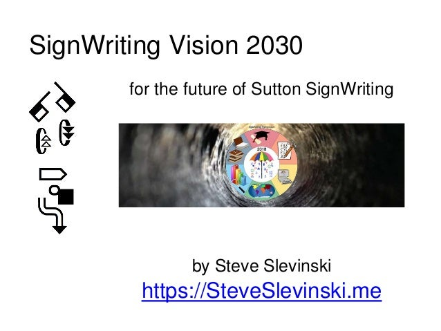 for the future of Sutton SignWriting by Steve Slevinski https://SteveSlevinski.me SignWriting Vision 2030