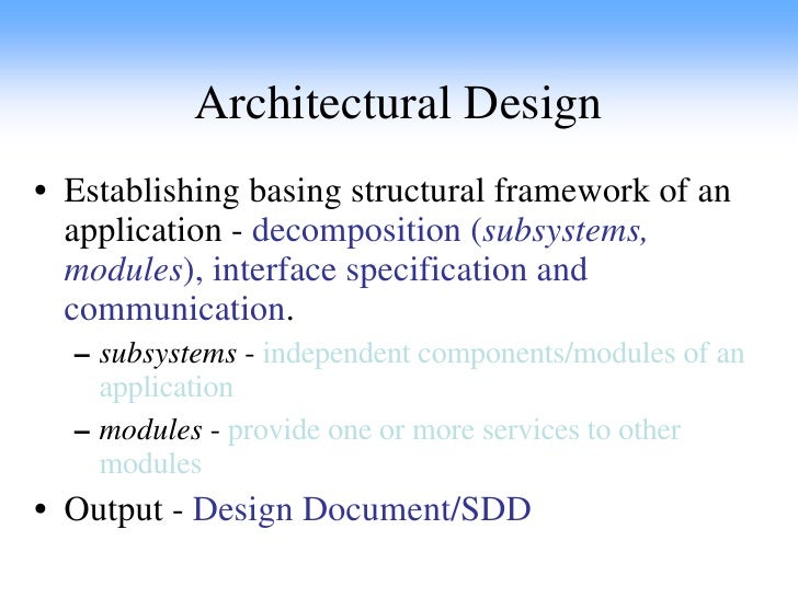 Structural Decomposition In Software Design