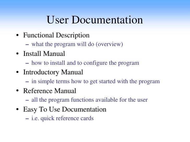 sw software documentation user documentation example user documentation excel