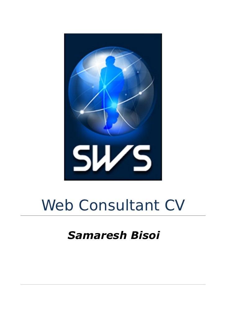Web Consultant CV   Samaresh Bisoi