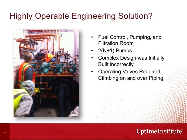 Highly Operable Engineering Solution? • Fuel Control, Pumping, and Filtration Room • 2(N+1) Pumps • Complex Design was ...