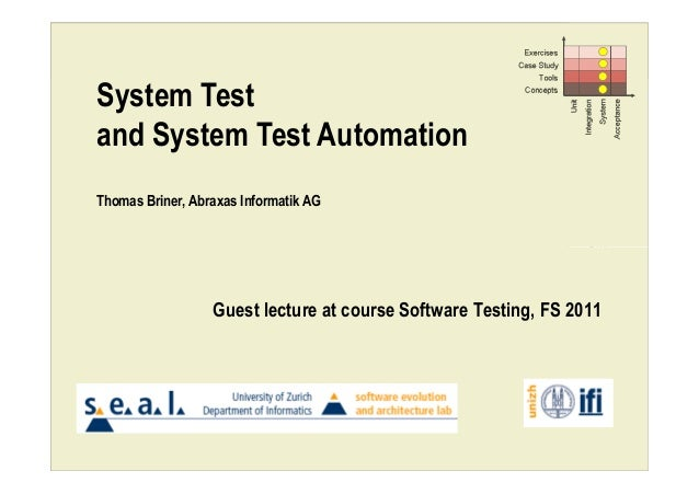 System Test Automation Slide 1