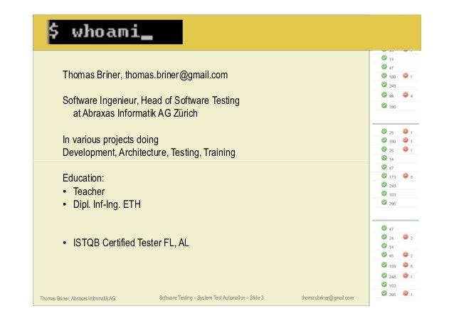 System Test Automation Slide 3
