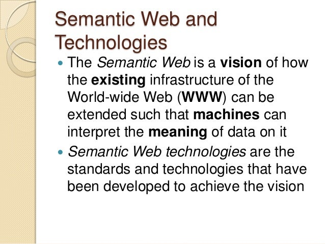 semantic web technologies and applications