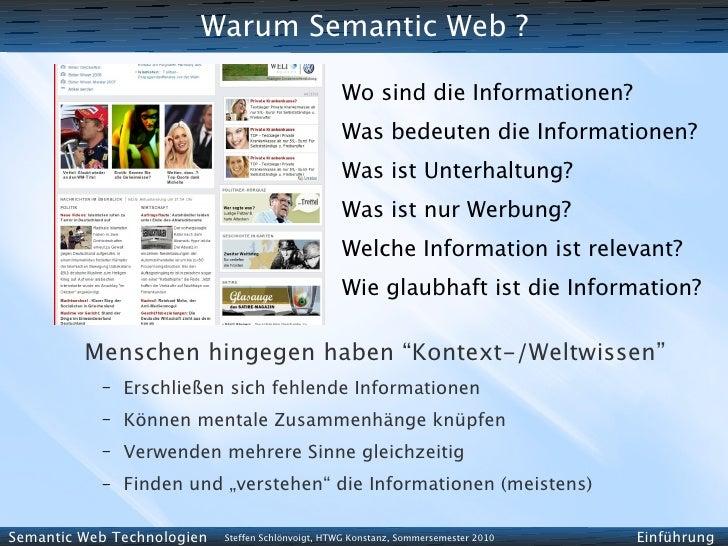 Warum Semantic Web ?                                                     Wo sind die Informationen?                       ...