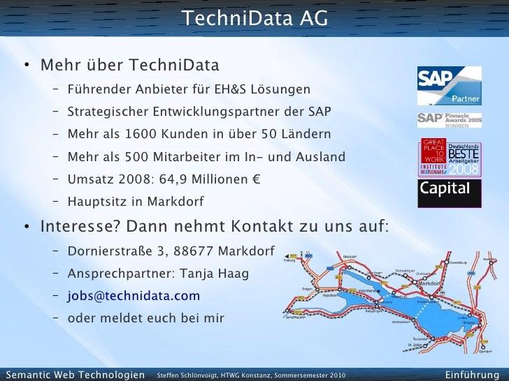 TechniData AG    ●        Mehr über TechniData         –   Führender Anbieter für EH&S Lösungen         –   Strategischer ...