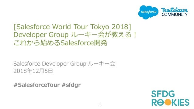 [Salesforce World Tour Tokyo 2018] Developer Group ルーキー会が教える! これから始めるSalesforce開発 Salesforce Developer Group ルーキー会 2018年12...