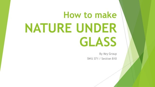 How to make NATURE UNDER GLASS By Key Group SWU 371 / Section B10