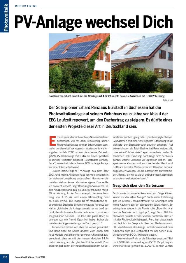 Photovoltaik   repowering               PV-Anlage wechsel Dich                                               Das Haus von ...