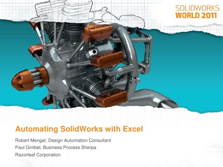 Automating SolidWorks with Excel