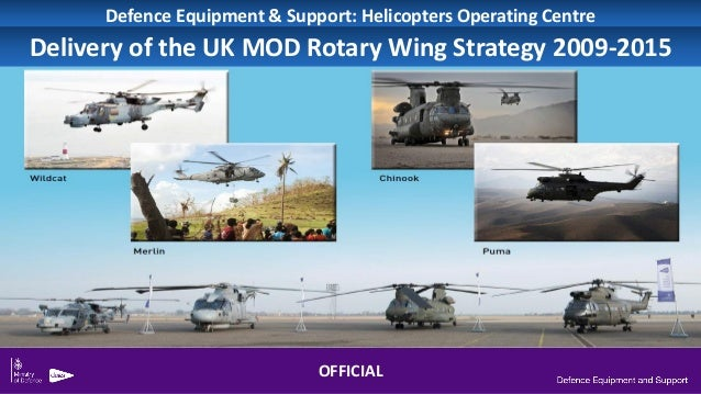 Defence Equipment & Support: Helicopters Operating Centre Delivery of the UK MOD Rotary Wing Strategy 2009-2015 OFFICIAL