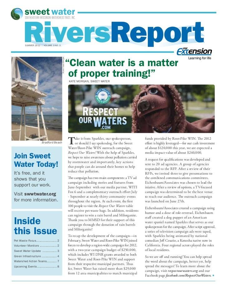 RiversReport         SUMMER 2012 | volume 3 no. 3                                                                         ...