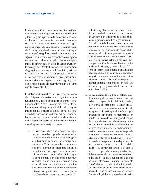150 Anales de Radiología México 2017 julio;16(3) la comunicación clínica entre médico tratante y el médico radiólogo, faci...