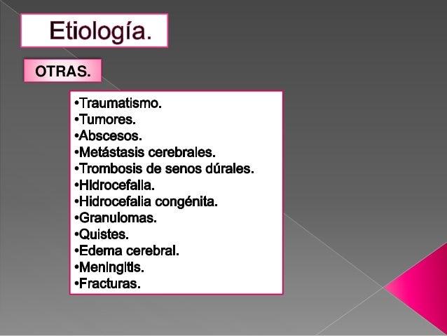 Sx hipertension endocraneana