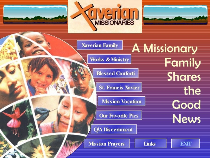 A Missionary  Family Shares the Good News Blessed Conforti St. Francis Xavier Xaverian Family Mission Vocation Q/A Discern...